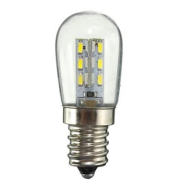 billige Elpærer-2 W LED-globepærer 130 lm E11 24 LED perler SMD 3014 Dekorativ Varm hvit Hvit 220 V 110 V / 1 stk. / RoHs