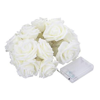 5m 20 led bateria operada corda flor rosa fada luz casamento sala jardim decoração (branco quente)