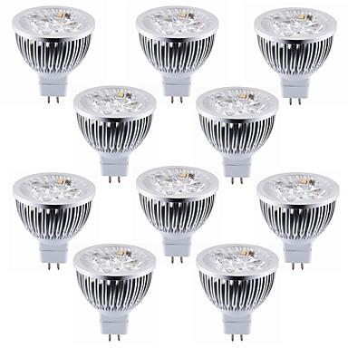 10pcs 5.5 W 450-500 lm MR16 LED ضوء سبوت 4 الخرز LED طاقة عالية LED ديكور أبيض دافئ / أبيض كول 12 V / بنفايات