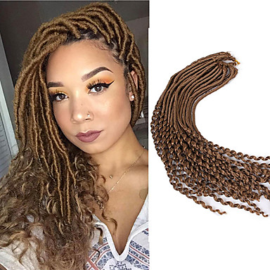 22inch Soft Dreadlocs Crochet Braids With Curly End