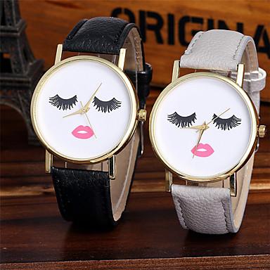 cheap Women's Watches-Women's Wrist Watch Quartz Leather Black / White / Brown Cool Analog Sparkle Casual Fashion - Gray Brown Green One Year Battery Life / Tianqiu 377