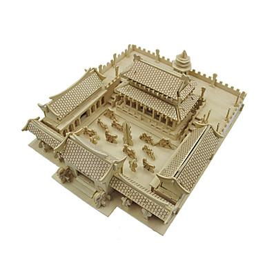 voordelige 3D-puzzels-3D-puzzels Modelbouwsets Houten modellen Shaolin-tempel Hout Unisex Speeltjes Geschenk