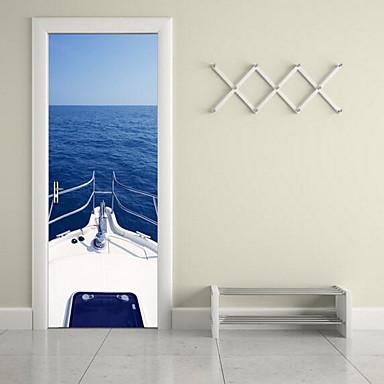 مناظر طبيعية ملصقات الحائط لواصق لواصق حائط مزخرفة, الفينيل تصميم ديكور المنزل جدار مائي جدار