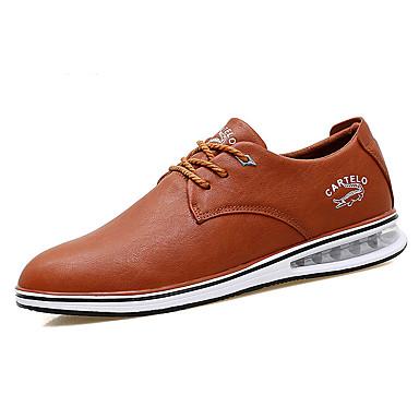 Herre sko Lær Vår Høst Komfort Oxfords Svart Mørkeblå Lysebrun