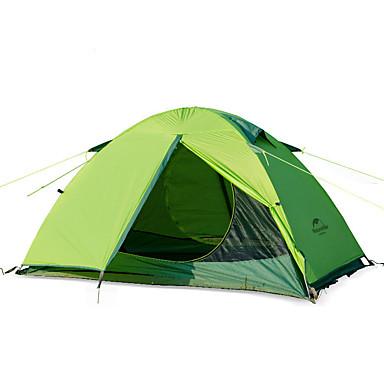 رخيصةأون مفارش و خيم و كانوبي-Naturehike 2 الأشخاص خيم حقيبة الظهر في الهواء الطلق الدفء قابلة للطى طبقات مزدوجة خيمة التخييم إلى تخييم نايلون ألمنيوم