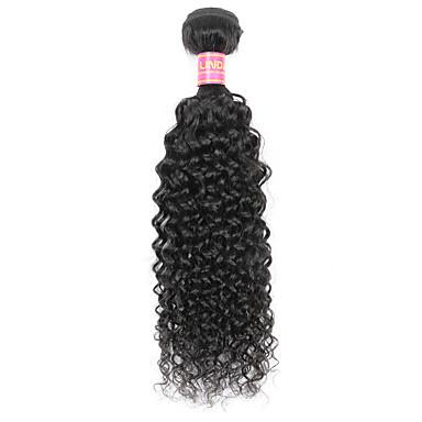 1 pacote Cabelo Indiano Kinky Curly / Weave Curly Cabelo Virgem Cabelo Humano Ondulado Tramas de cabelo humano Extensões de cabelo humano / Crespo Cacheado
