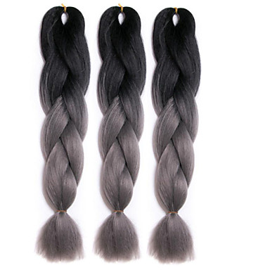Cabelo para Trançar Tranças de caixa / Clássico Tranças torção / Extensões de Cabelo Natural Cabelo Sintético 3 raízes Tranças de cabelo Âmbar Diário