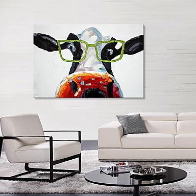 Estampados de Lonas Esticada Animais Estilo Europeu, 1 Painel Tela de pintura Horizontal Estampado Decoração de Parede Decoração para casa