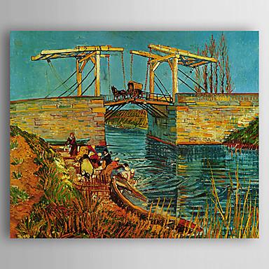 Pintados à mão Paisagem Horizontal, Estilo Europeu Tela de pintura Pintura a Óleo Decoração para casa 1 Painel