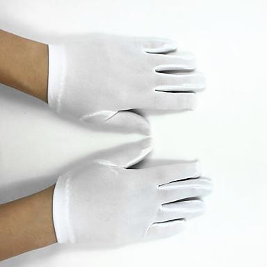 Polyester Elastischer Satin Handgelenk-Länge Handschuh Blumenmädchen Handschuhe