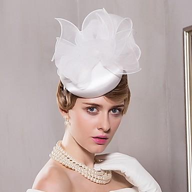 voordelige Hoeden-Organza / Satiini Kentucky Derby Hat / hatut met 1 Bruiloft / Speciale gelegenheden  / Causaal Helm