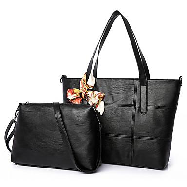여성 가방 그외 가죽 종류 2 개 지갑 세트 용 캐쥬얼 사계절 블랙 베이지 와인