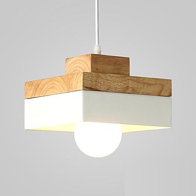 Europa do norte simplicidade moderna pingente de madeira luz metal sombra sala de estar sala de jantar sala de café iluminação