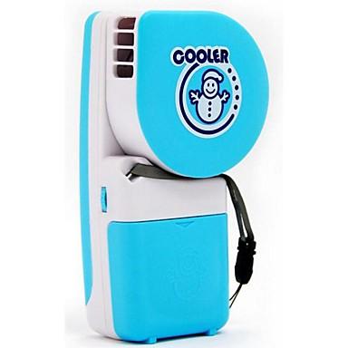 Criativo handheld mini ar condicionado ventilador snowman usb bateria portátil refrigeração estudantes crianças folhas pequeno fã