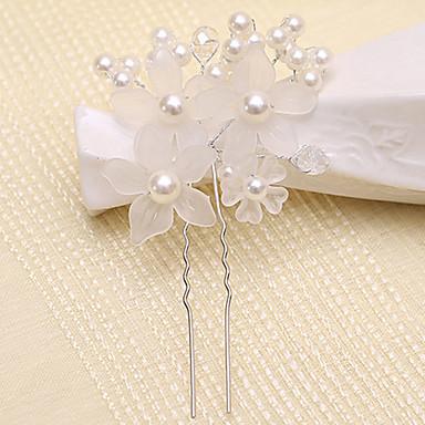 abordables Coiffes-Acrylique Fleurs / Pince à cheveux / Outil de cheveux avec 1 Mariage / Occasion spéciale / De plein air Casque / Épingle à cheveux