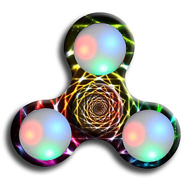 피젯 스피너 핸드 스피너 ADD, ADHD, 불안, 자폐증 완화 오피스 데스크 완구 초점 장난감 스트레스와 불안 완화 살생 시간 LED 라이트 LED 회 전자 플라스틱 클래식 조각 남아 아동용 어른' 선물
