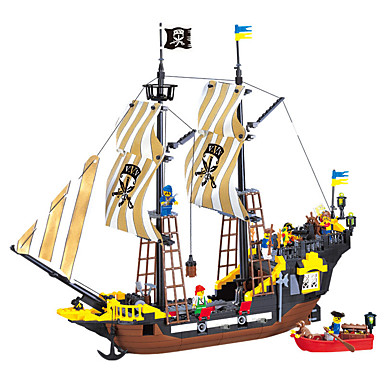 ENLIGHTEN أحجار البناء مجموعات البناء 590 pcs قرصان سفينة قراصنة صبيان فتيات ألعاب هدية