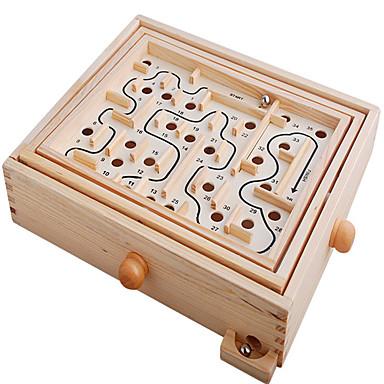 متاهة خشبية ألعاب الطاولة متاهة خشب قطع للجنسين للأطفال للبالغين هدية
