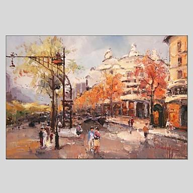 Pintura a Óleo Pintados à mão - Paisagem Clássico / Modern Tela de pintura / Lona esticada