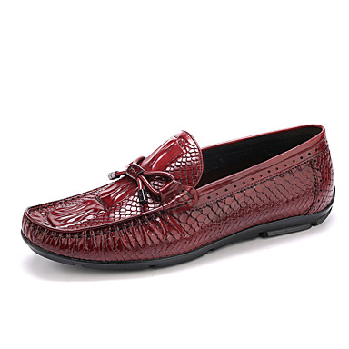 Homens sapatos Couro Primavera Outono Mocassim Mocassins e Slip-Ons Presilha para Casamento Casual Escritório e Carreira Festas & Noite