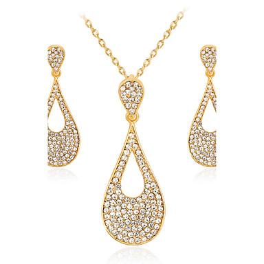 Mulheres Conjunto de jóias - Fashion, Euramerican Incluir Colar / Brincos Dourado Para Casamento / Festa / Aniversário / Noivado / Presente / Diário