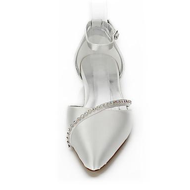 Talon Automne Ivoire Soirée de Confort amp; Printemps Bout pointu Chaussures mariage Chaussures Dyeable Chaussures 05821144 Evénement Chaîne Mariage Bas Femme Soie Z8tvq4