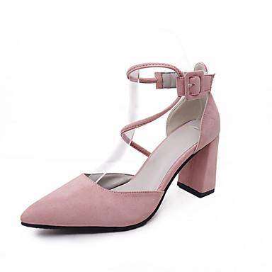 여성 샌들 컴포트 봄 여름 플리스 캐쥬얼 청키 굽 블랙 그레이 핑크 2.5cm- 4.5cm