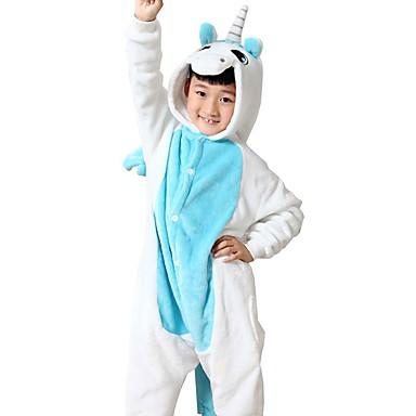 4cb779ee34bd Kid s Kigurumi Pajamas Unicorn Onesie Pajamas Flannel Toison Blue Cosplay  For Boys and Girls Animal Sleepwear Cartoon Festival   Holiday Costumes  5763921 ...