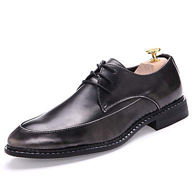 Men's Dress Shoes Patent Leather Fall / Winter Oxfords Black / Red / Formal Shoes / Party & Evening