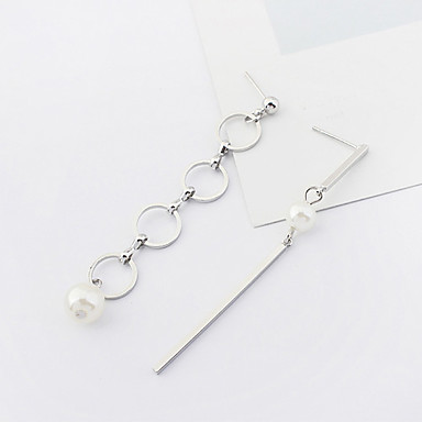 Damen Tropfen-Ohrringe Imitierte Perlen Euramerican Modisch Kupfer Kreisform Schmuck Alltag Modeschmuck