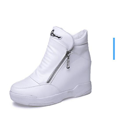 Hiver Noir Polyuréthane 05977767 Bottes Automne Confort Chaussures Femme Blanc OvSqTw