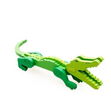 voordelige 3D-puzzels-3D-puzzels Houten modellen Krokodil Plezier Hout Klassiek Kinderen Unisex Speeltjes Geschenk