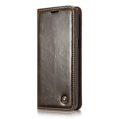 Capinha Para Samsung Galaxy S8 Plus / S8 Carteira / Porta-Cartão / Com Suporte Capa Proteção Completa Sólido Rígida couro legítimo para S8 Plus / S8 / S7 edge