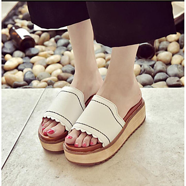 Damen Sandalen Fersenriemen Sommer PU Normal Weiß Braun 2,5 - 4,5 cm