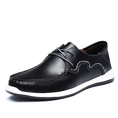 Miesten kengät Nahka Kevät Kesä Oxford-kengät Solmittavat varten Musta Ruskea Khaki