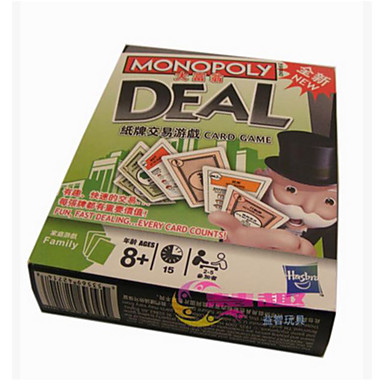 Jogos de Tabuleiro Jogos Banco Imobiliário Brinquedos Quadrada Plástico Peças Unisexo Dom