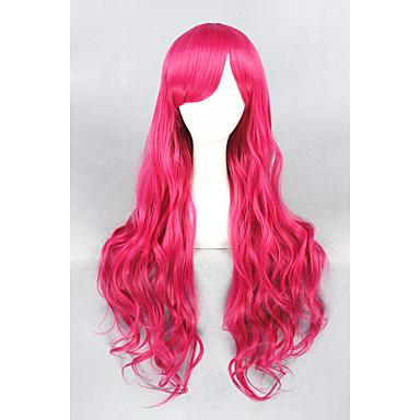 Umělé vlasy paruky Kudrny Bez krytky Cosplay paruka Dlouhý Červená