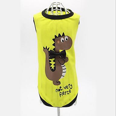 Pes Kamizelka Oblečení pro psy Běžné/Denní Komiks Žlutá Zelená Kostým Pro domácí mazlíčky
