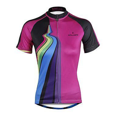 ILPALADINO Pyöräily jersey Naisten Lyhythihainen Pyörä Jersey Topit Nopea kuivuminen Ultraviolettisäteilyn kestävä Puristus Kevyet