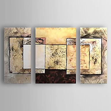 Pintados à mão Abstrato Horizontal, Abstracto Nova chegada Moderno/Contemporâneo Tela de pintura Pintura a Óleo Decoração para casa 3
