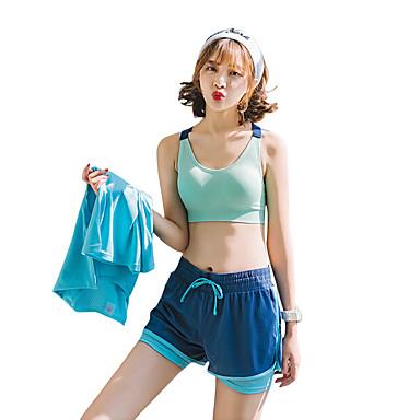 Damen Sport-BHs Laufschuhe Rasche Trocknung Komfortabel Kleidungs-Sets für Yoga Übung & Fitness umweltfreundlich Polyester Blau Marineblau