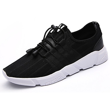 Homens sapatos Couro Ecológico Primavera Outono Conforto Tênis Cadarço para Casual Preto Cinzento Khaki