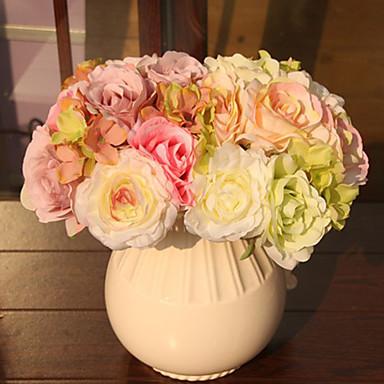 1 Větev Umělá hmota Rostliny Květina na stůl Umělé květiny