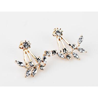 Dámské Dívčí Peckové náušnice Syntetický diamant Jedinečný design Květiny Geometrický Květinový Módní Přizpůsobeno Hypoalergenní Klasický
