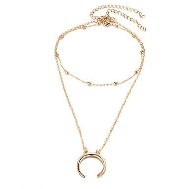 Női Luxus Nyilatkozat nyakláncok - Személyre szabott / Luxus / Szexi Geometric Shape Arany / Ezüst Nyakláncok Kompatibilitás Esküvő /