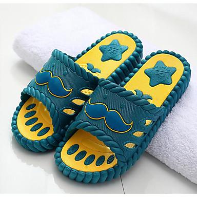 Herren Schuhe Gummi Frühling Komfort Slippers & Flip-Flops Für Normal Grau Armeegrün Blau