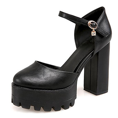 Naiset Sandaalit Comfort Kevät PU Kausaliteetti Valkoinen Musta Harmaa Tasapohja
