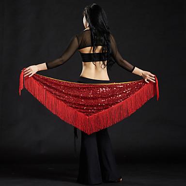 Břišní tanec Šátky na břišní tance Dámské Výkon Polyester Flitry Třásně Šátek přes boky