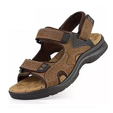 Men's PU(Polyurethane) Summer Comfort Sandals Walking Shoes Black / Yellow / Brown