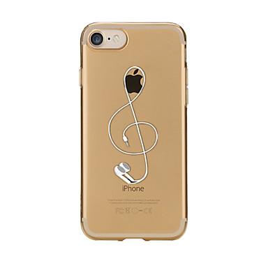 Etui Käyttötarkoitus Apple iPhone X iPhone 8 Läpinäkyvä Kuvio Takakuori Piirretty Pehmeä TPU varten iPhone X iPhone 8 Plus iPhone 8